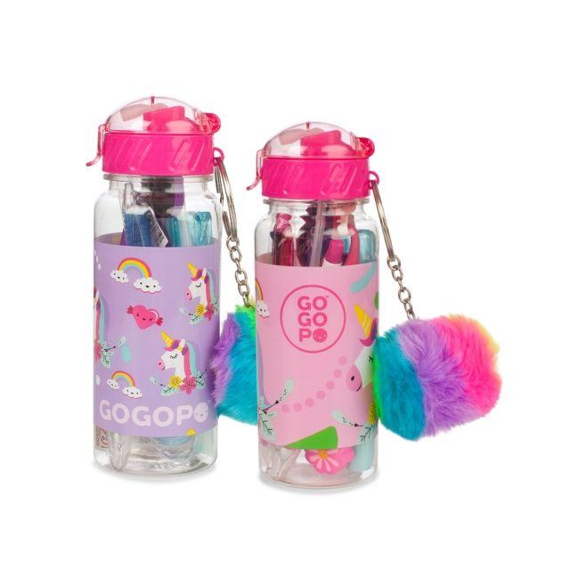 GOGOPO Unicorn Surprise Stationary Drinks Bottle